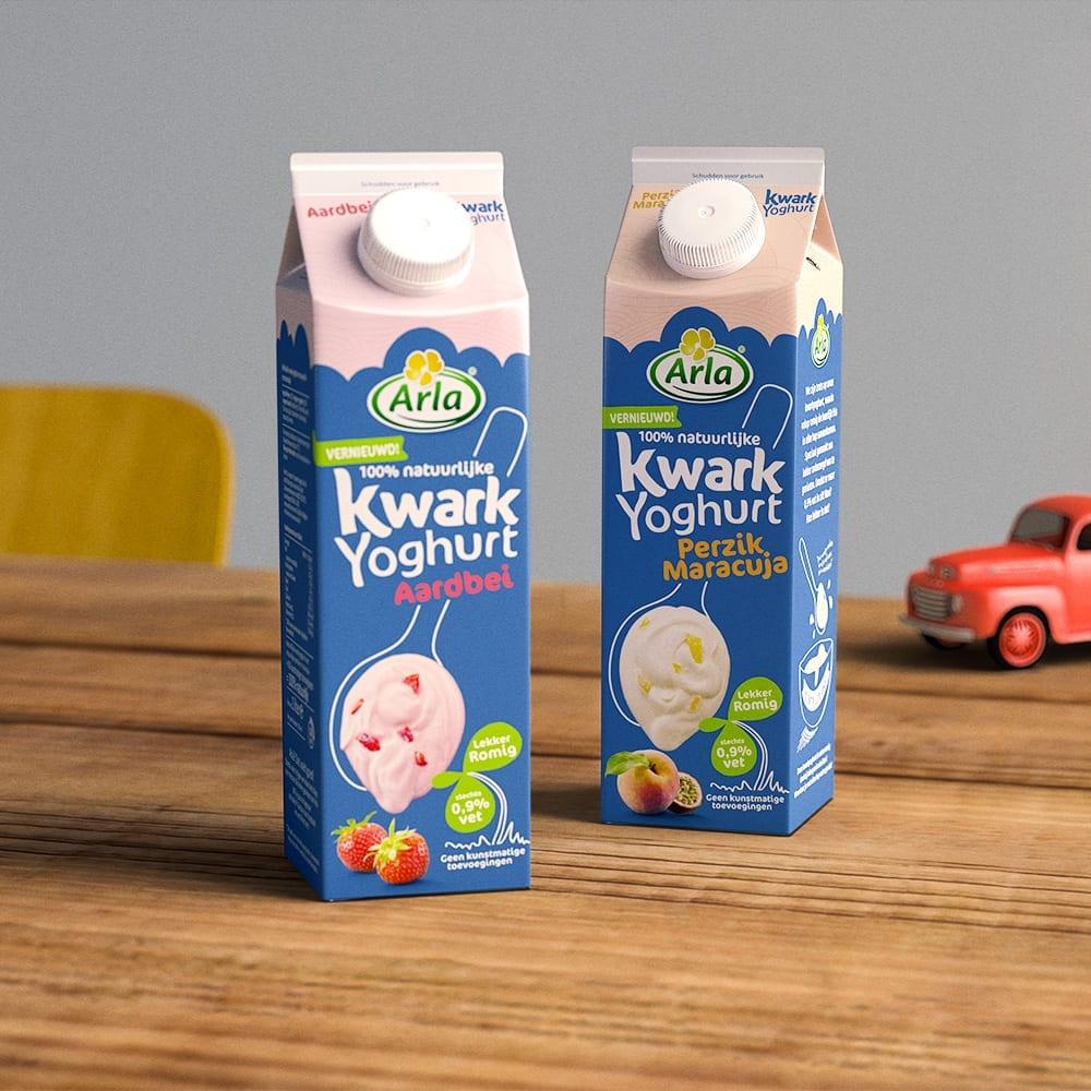 Arla Kwarkyoghurt packshots